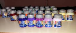 30 tintas para tecido Acrilex - tie dye e pinturas em geral