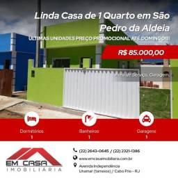 Lj@_ Linda Casa de 1 Quarto em São Pedro da Aldeia<br>