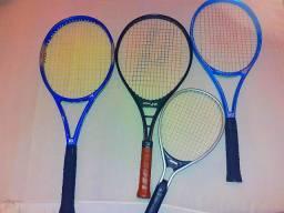 4 raquetes de tenis em ótimo estado