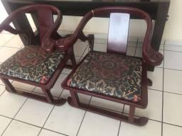 Conjunto de sala - poltrona e mesas