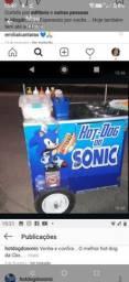 Carro de hot dog personalizado