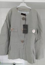 Título do anúncio: Casaquinho importado novo com etiqueta marca Gonnella (Espanha) Tam 50<br>