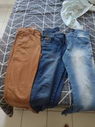 Calças jeans e de cor pra vender logo! Tamanho 40