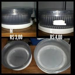 Título do anúncio: Embalagens para tortas ou bolo hj R$ 2,00 cada