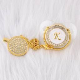 Chupeta Baby Luxo Transparente