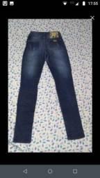 Calça jeans lavagem escura tamanho 36