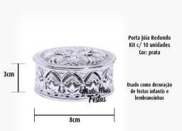 Porta Jóia Redondo Prata - 10 unidades