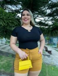 Shorts - laço Plus Size
