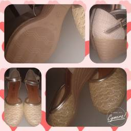 Sapato boneca dourada