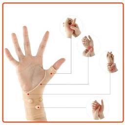 2 Luva Magnética De Compressão Alivio Das Dores Das Mãos (Par)