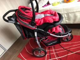 Carrinho de bebê baby happy com bebê conforto, carrinho de três rodas aro de bicicleta.