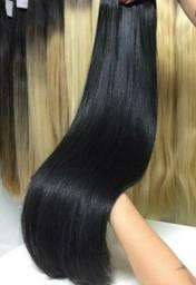 Tic tac alongamento, cabelo orgânico podendo lavar secar e pranchar 75 cm r$120,00