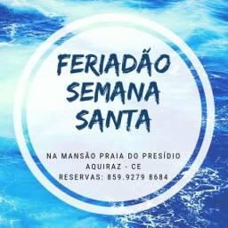PÉ NA AREIA, FRENTE PARA O MAR!!! Alugamos Mansão Praia do Presídio - Aquiraz/CE