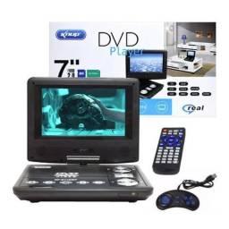 Dvd Player Portátil KP-D119/DT Knup Tela de 7 Polegadas Giratória com TV Digital Usb Jogos