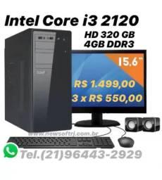 Intel Core i3-4GB DDR3-Gabinete Novo - Parc Até 10x (Consulte Valores)