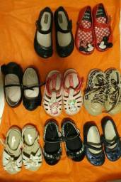 Conjunto 8 calçados infantis tamanho 23