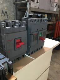 Disjuntores, transformador, chave seccionadora