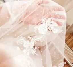 Vestido de Noiva Unico, Boho Chic 2 em 1