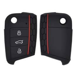 Capa Chave Silicone Golf Mk7 Tsi Gti Novo Polo Tiguan Virtus
