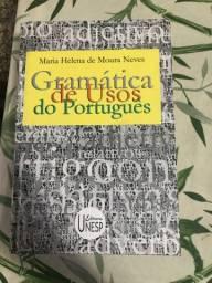 Livro capa dura Gramática de usos do português - Maria Helena de Moura Neves