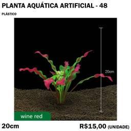 Planta rosa Artificial de Aquário