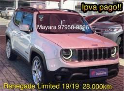 Jeep Renegade Limited 19/19 28.000km top de linha - Mayara