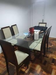 Conjunto de mesa de jantar com 6 cadeiras