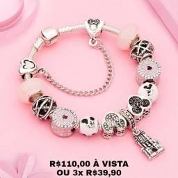 Título do anúncio: Linda pulseira de prata 925 temática PROMOÇÃO