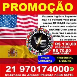 Venha aprender Espanhol e Inglês!