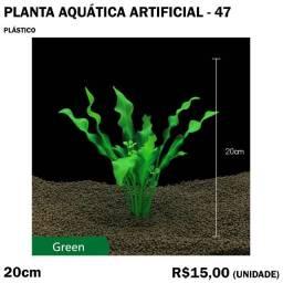 Planta Verde Artificial de Aquário
