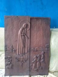 Título do anúncio: Escultura de nossa senhora em madeira 350