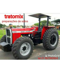 Trator mf 292 4x4 , retro escavadeira e limpa fossa para agregar, preço à combinar.