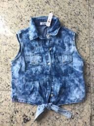 Croped Jeans- TAM P- Nunca usado