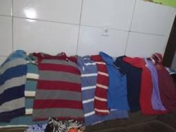 Lote de camisas masculinas M e G