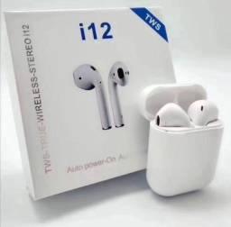 Título do anúncio: Fone de ouvido I12  Bluetooth para iPhone e Android