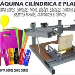 Impressora serigráfica cilindrica e Plana