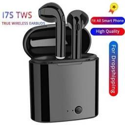 Fone De Ouvido Bluetooth I7S 5.0 Par Tws Sem Fio Preto