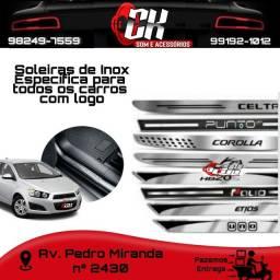 Título do anúncio: Soleiras de Inox Específica para todos os carros