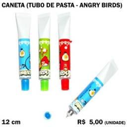 Caneta Tubo de Pasta Angry Birds