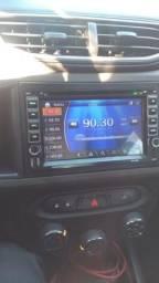 Central multimidia com GPS controle dvd cd MP3 sd