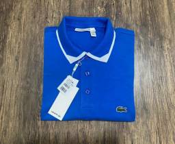 Camisa Polo Lacoste azul Regular Fit P
