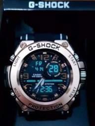 Relógio G-shock Aço Escovado Linha Premium