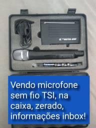 Microfone Sem Fio TSI MS115 UHF -<br>Sem fio, Zerado!