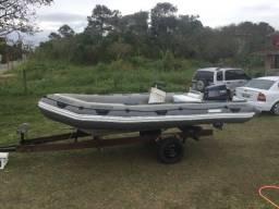 Título do anúncio: Vendo Bote Inflável Zefir 5 mts