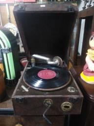 Vitrola Columbia gramofone London - Funcionando