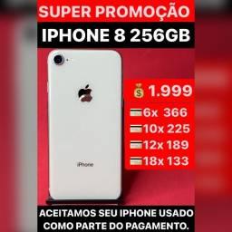 iPhone 8 256gb, aceitamos seu iPhone usado como parte do pagamento.