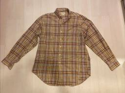 Camisa Social Ml Quadriculada Marrom Richards - Tamanho 2