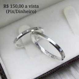 Título do anúncio: ALIANÇA DE PRATA 950