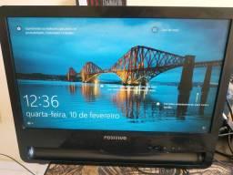 Monitor, 4gb ram e Placa de rede