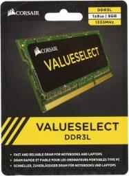 Memória Notebook 8GB Corsair Valueselect DDR3 - NOVO - Loja Física